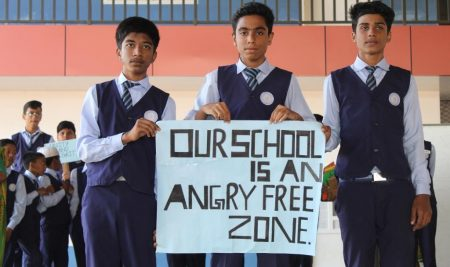 INAGURATED ANGRY FREE ZONE AT SCHOOL