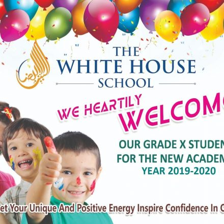 """Welcome Ceremony for """"Grade x"""" (2019-2020) at """" IG ENGLISH SCHOOL""""."""