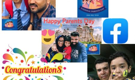 "Winners of ""Selfie with Parent 🤳📸👨‍👩‍👧‍👧 facebook Contest """