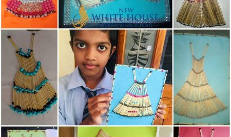 Craft Works by Grade 1 and Grade 4 Students of New White House International School