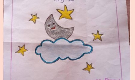Moon Day Special Drawing's by Students of New White House International School