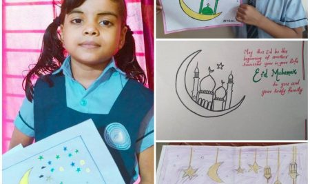 Eid – Mubarak 🌙 Greeting Card Making Activity Done by Students of New White House international School Group Name : INVENTIVE MAESTRO GROUP May the auspicious occasion of Eid bless you with peace and bring joy to your heart and home.