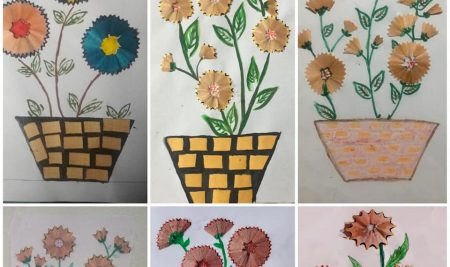 Wounderful Art & Craft works of our students .. Students are learned Art & craft works ,Drawing During Online classes  Well Done  Students