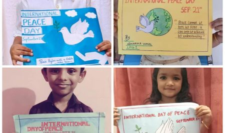 International Day of Peace & Non- Violence #specialactivities done by students of New white house international School
