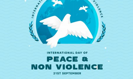 International Day of Peace & Non Violence. 21September