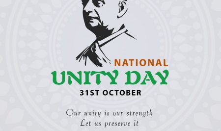 National Unity Day is celebrated in India on 31 October.