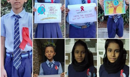 """ WORLD AIDS DAY "" Students activities  "" Stay Home Stay Safe """