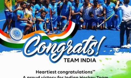 Congrats 🎉🥳👏  Team India, Heartiest congratulations A proud victory for Indian Hockey Team